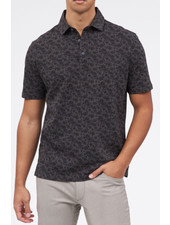 BRAX Modern Fit Charcoal Brown Floral Polo