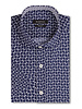 BUGATCHI UOMO Classic Fit Navy with White Pattern