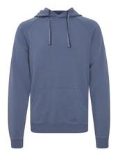 BLEND Blue Cotton Sweatshirt with Pouch