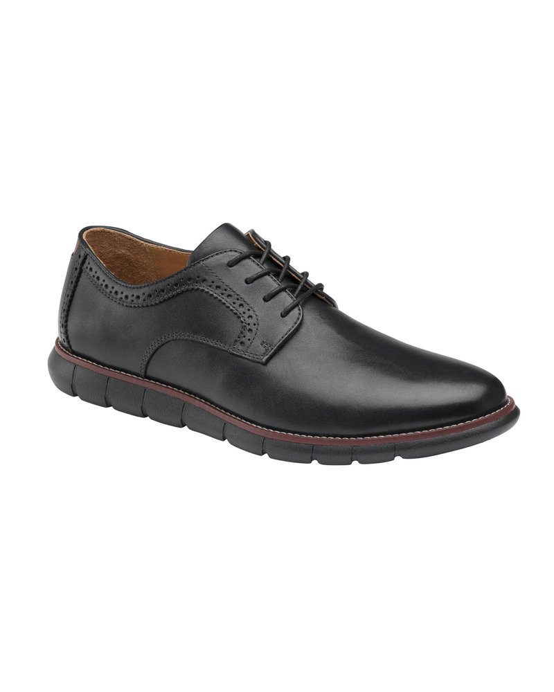 JOHNSTON & MURPHY Holden Plain Toe Black Shoe