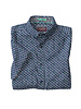 JOHNSTON & MURPHY Classic Fit Fish Bone Navy SS Shirt
