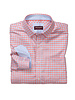 JOHNSTON & MURPHY Classic Fit Textured Check Coral Shirt