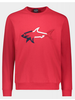 PAUL & SHARK Red Sweatshirt with 3D Embroidered Shark