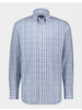 PAUL & SHARK Classic Fit Blue Plaid Shirt with Mask