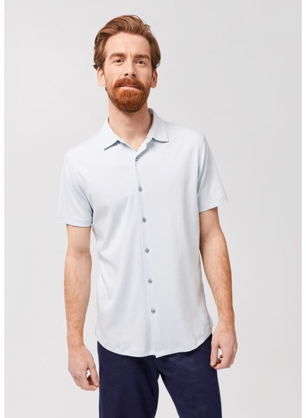 ROBERT BARAKETT Georgia Powder Blue SS Shirt