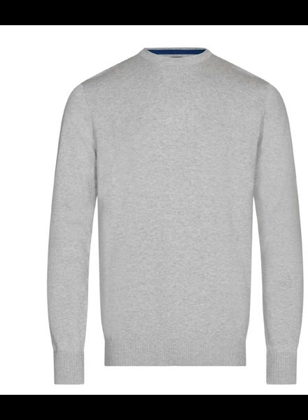 BRUUN & STENGADE Modern Fit Solid Cotton Sweater