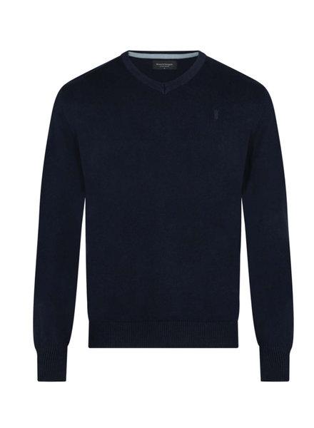 BRUUN & STENGADE Solid V-Neck Sweater