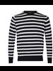 BRUUN & STENGADE Blue & White Stripe Sweater