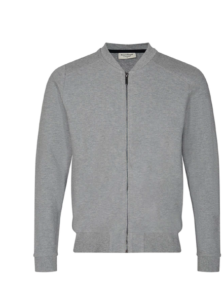 BRUUN & STENGADE Modern Fit Full Zip Sweatshirt