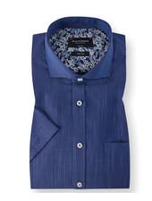BRUUN & STENGADE Modern Fit BLue Mix SS Shirt