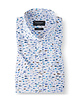 BRUUN & STENGADE Modern Fit Blue Multi Color Fish SS Shirt