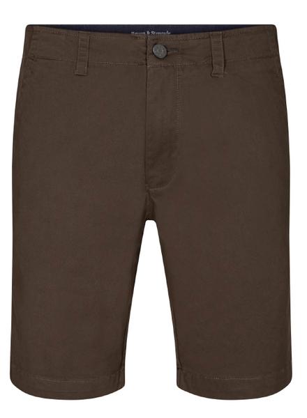 BRUUN & STENGADE Modern Fit Solid Cotton Blend Short