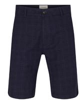 BRUUN & STENGADE Modern Fit Small Check Navy Short