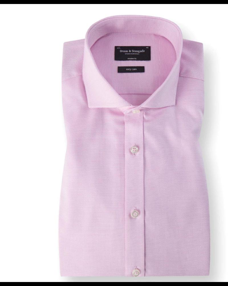 BRUUN & STENGADE Modern Fit Pink Shirt