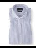 BRUUN & STENGADE Modern Fit White Blue Banker Stripe Shirt