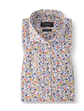 BRUUN & STENGADE Modern Fit Multi Color Leaf Shirt
