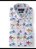 BRUUN & STENGADE Modern Fit White Floral Print Shirt