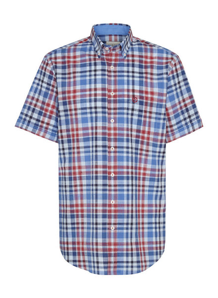 BUGATTI Modern Fit Blue Plaid Shirt