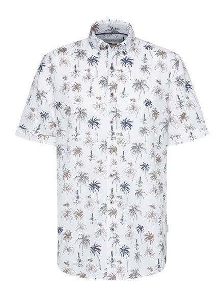 BUGATTI Modern Fit Palm Tree Shirt