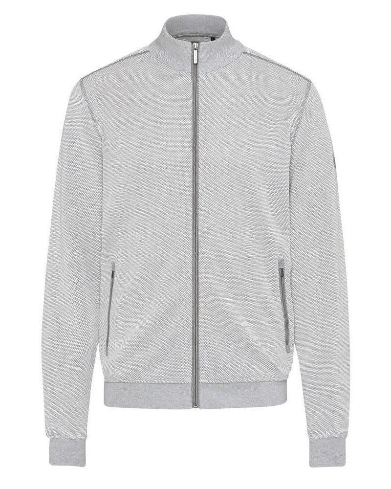 BUGATTI Grey Full Zip Knit