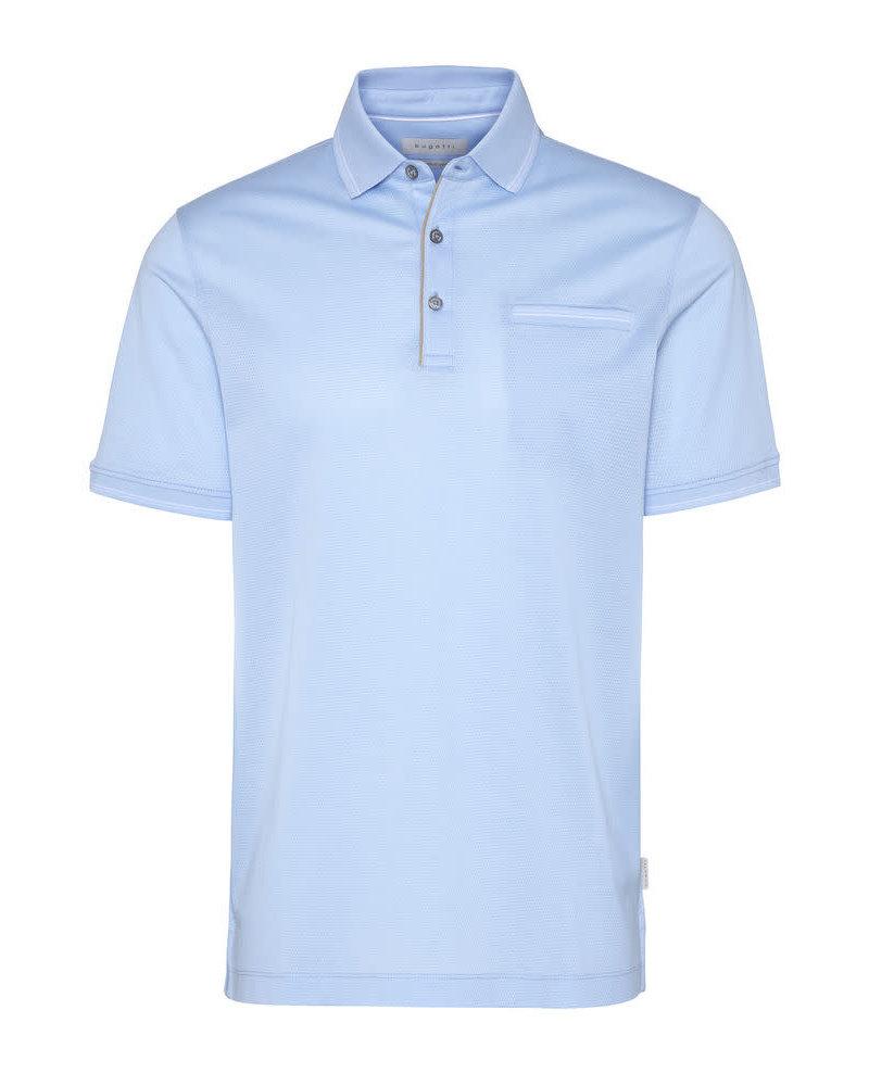 BUGATTI Blue Polo with Pocket