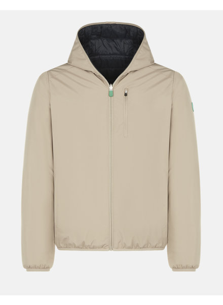SAVE THE DUCK Tan Hooded Reversible Casual Coat