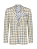 A FISH NAMED FRED Modern Fit Small Sand Check Sport Coat