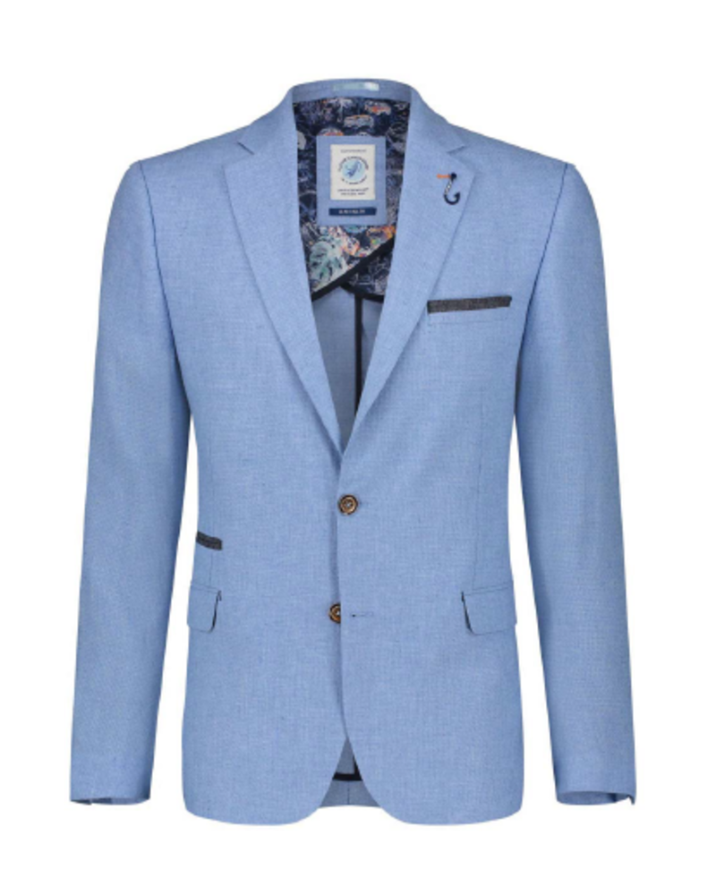 A FISH NAMED FRED Modern Fit Light Blue Sport Coat
