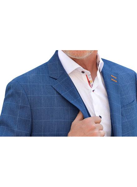 7 DOWNIE Modern Fit Blue Block Sport Coat