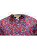 7 DOWNIE Modern Fit Red Blue Floral Shirt