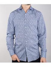 7 DOWNIE Modern Fit Herringbone Tile Shirt