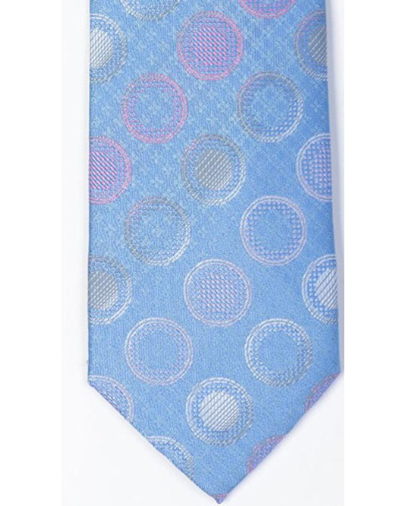 MONTEBELLO Blue Pastel Dot Silk Tie