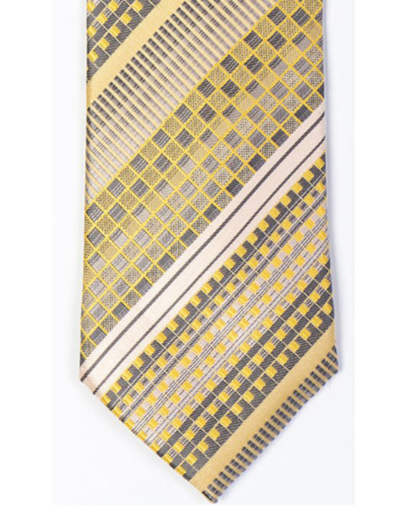 MONTEBELLO Gold Striped Silk Tie