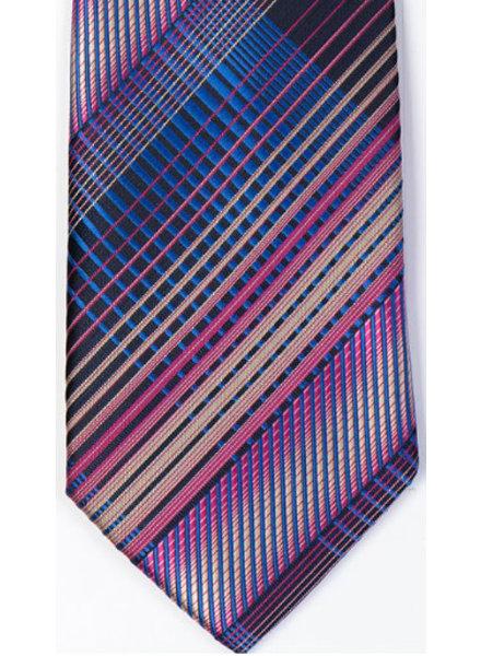 MONTEBELLO Purple Striped Silk Tie