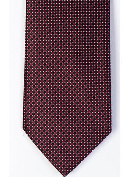 MONTEBELLO Red Black Silk Tie