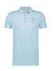 A FISH NAMED FRED Garment Dye Light Blue Polo