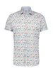 A FISH NAMED FRED Modern Fit Butterflies White Shirt