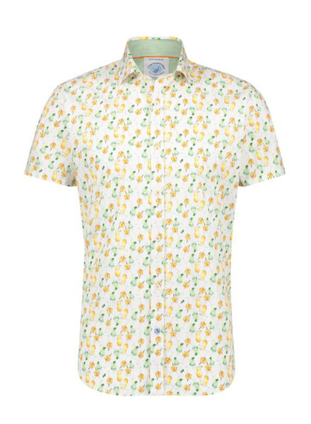A FISH NAMED FRED Modern Fit Cocktail White Shirt
