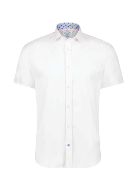 A FISH NAMED FRED Modern Fit Power Stretch White Shirt