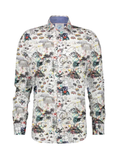 A FISH NAMED FRED Modern Fit Festival Map Shirt