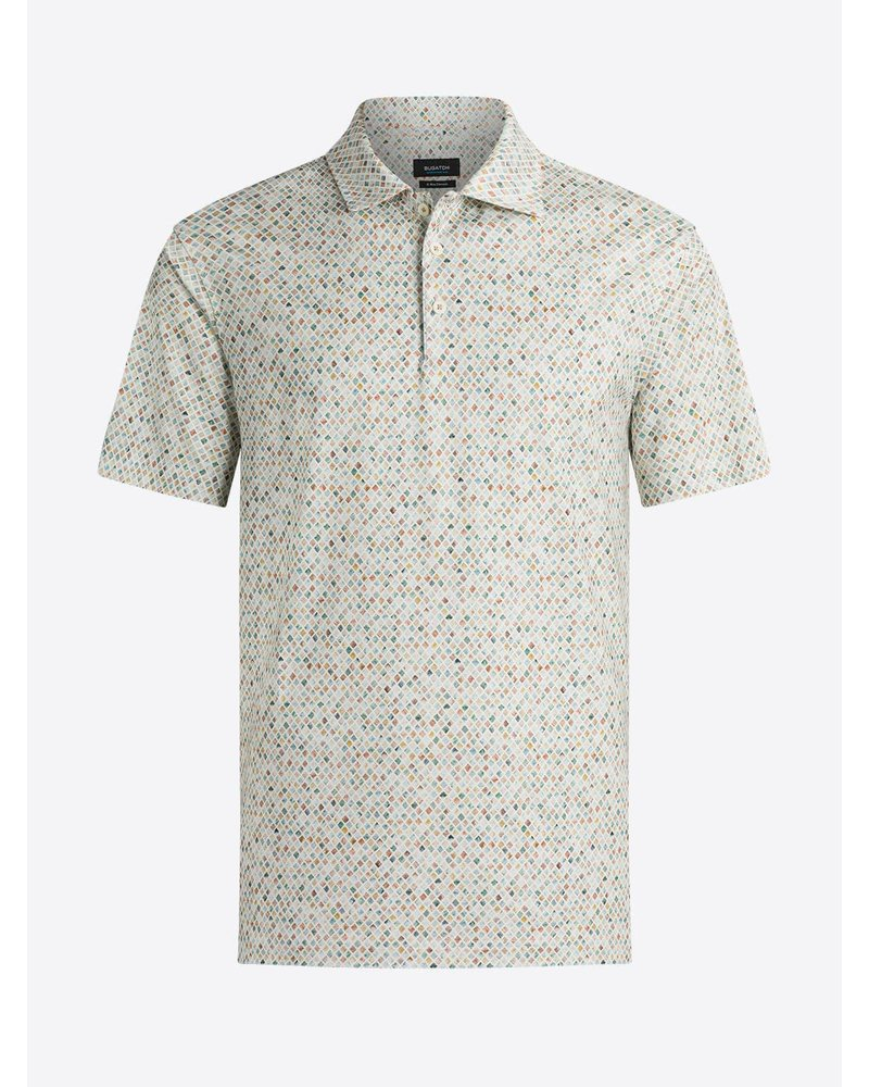 BUGATCHI UOMO Diamond Oooh Cotton Polo