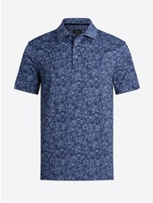 BUGATCHI UOMO Navy Floral Oooh Cotton Polo