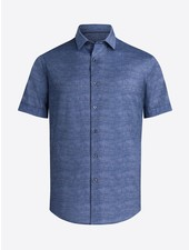 BUGATCHI UOMO Modern Fit Blue Oooh Cotton Shirt