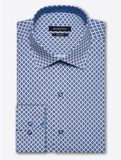 BUGATCHI UOMO Classic Fit Blue Diamond Shirt