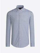 BUGATCHI UOMO Modern Fit Navy Grey Oooh Cotton Shirt