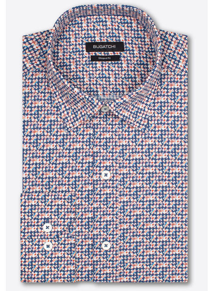 BUGATCHI UOMO Classic Fit Navy Red Shirt