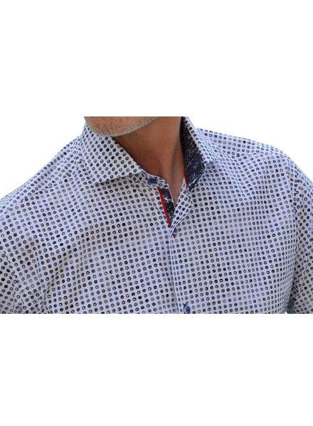 7 DOWNIE Modern Fit Multi Dot Short Sleeve Shirt
