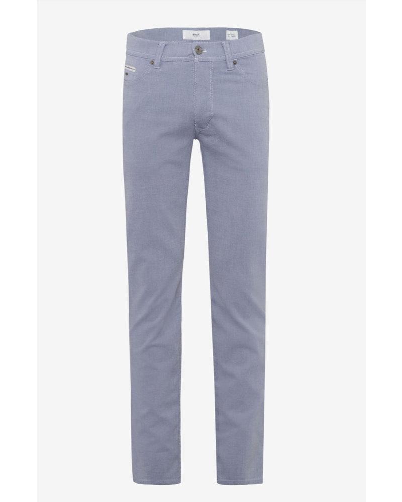BRAX Modern Fit Blue Pique 5 Pocket Pant