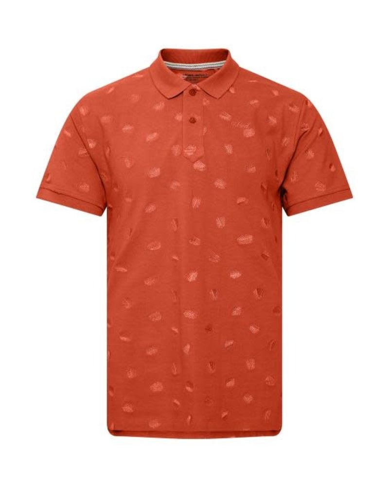 BLEND Orange Pique Polo