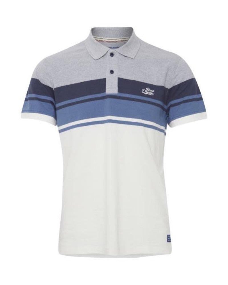 BLEND Modern Fit Horizontal Stripe Polo